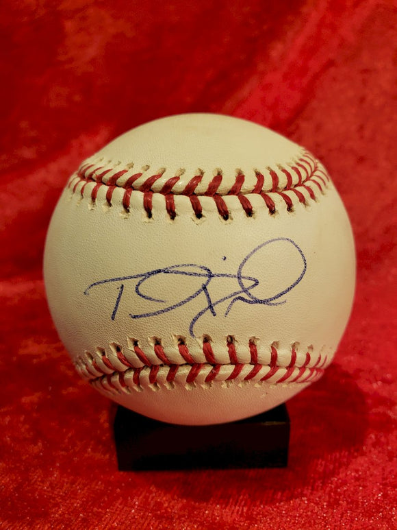 Thomas Diamond Guaranteed Authentic Autographed Baseball