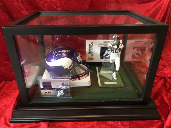 Chris Carter Vikings Certified Authentic Autographed Mini-helmet Shadowbox