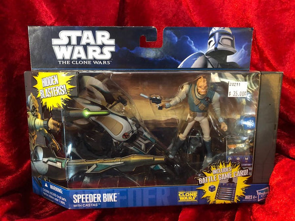 Star Wars Speeder Bike with Castas Spaceship