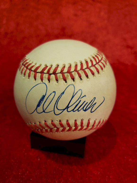 Albert Oliver Guaranteed Authentic Autographed Baseball