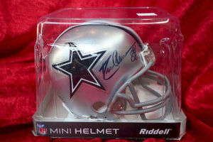 Drew Pearson Cowboys Autographed Certified Authentic Football Mini Helmet
