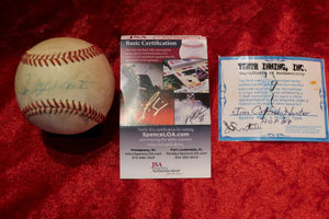 Jim Catfish Hunter Certified Authentic Autographed Baseball