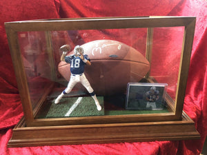 Peyton Manning Colts Certified Authentic Autographed Football Shadowbox