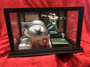 Michael Irvin Cowboys Certified Authentic Autographed Mini-helmet Shadowbox