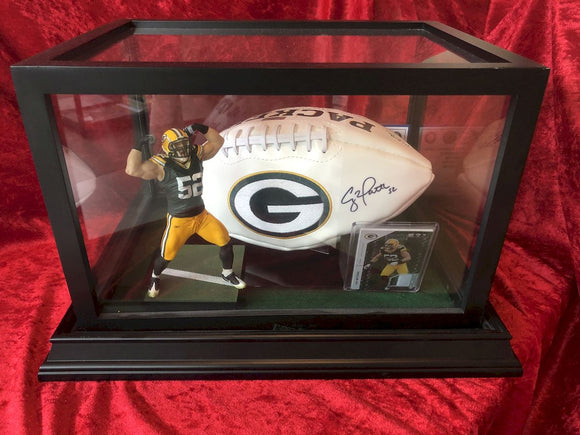 Clay Matthews Packers Certified Authentic Autographed Football Shadowbox