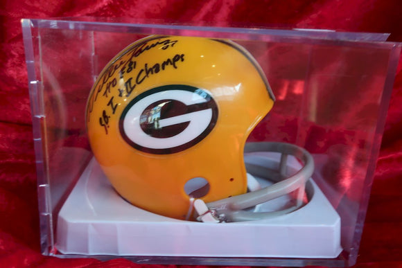 Willie Davis Packers Autographed Certified Authentic Football Mini Helmet