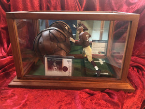 Sammy Baugh Redskins Certified Authentic Autographed Mini-Helmet Shadowbox