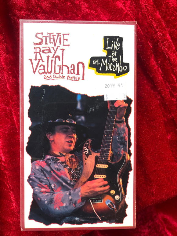 Stevie Ray Vaughn Live at El Mocambo VHS Tape