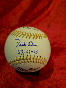 Paul Blair Certified Authentic Autographed Baseball