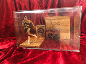 Jerry West Lakers Autograhped Certified Authentic Basketball Court Shadowbox