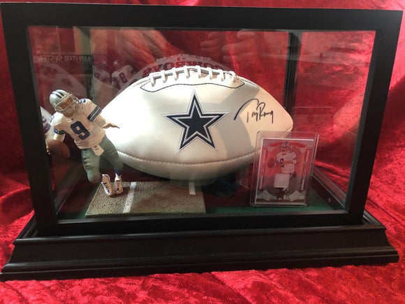 Tony Romo Cowboys Certified Authentic Autographed Football Shadowbox