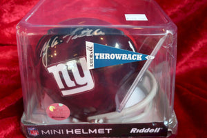 Y.A. Tittle Giants Autographed Certified Authentic Football Mini Helmet