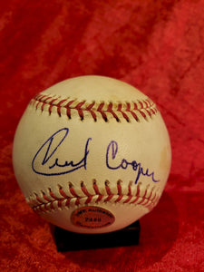 Cecil Cooper Certified Authentic Autographed Baseball