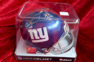 Michael Strahan Giants Autographed Certified Authentic Football Mini Helmet