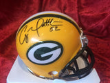 Clay Matthews Packers Certified Authentic Autographed Mini-helmet Shadowbox