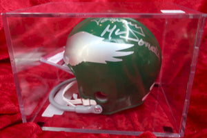 Tommy McDonald Eagles Autographed Certified Authentic Football Mini Helmet