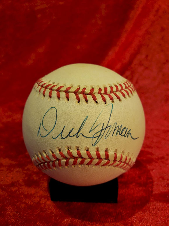 Dick Bosman Guaranteed Authentic Autographed Baseball