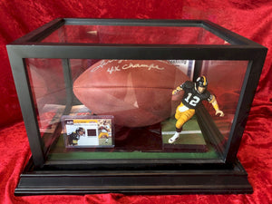 Terry Bradshaw Steelers Certified Authentic Autographed Football Shadowbox