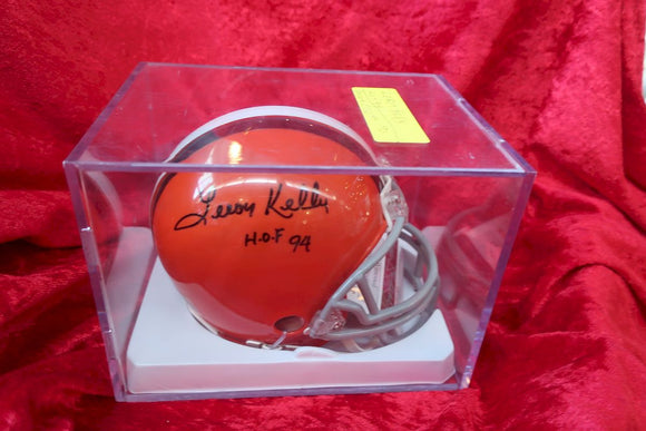 Leroy Kelly Browns Certified Authentic Autographed Football Mini Helmet