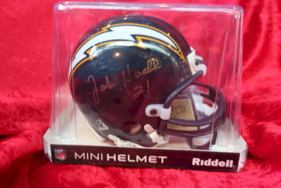 John Hadl Chargers Autographed Certified Authentic Football Mini Helmet