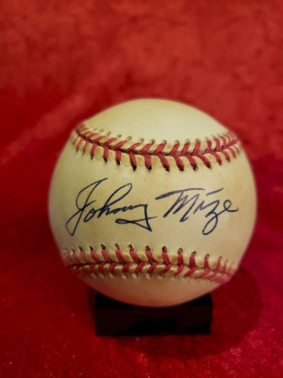 Johnny Mize Certified Authentic Autographed Baseball