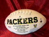 Bart Starr Packers Certified Authentic Autographed Football Shadowbox