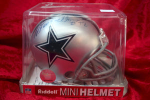 Ed Jones Cowboys Autographed Certified Authentic Football Mini Helmet