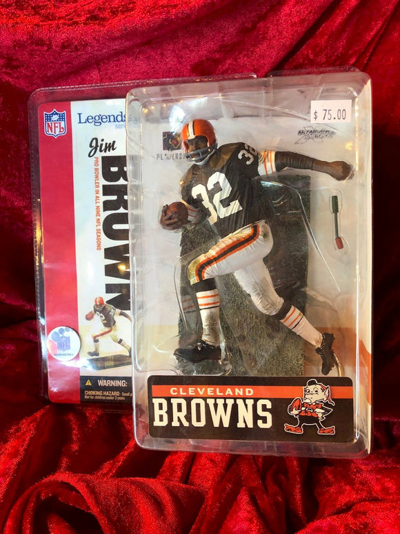 Jim Brown Cleveland Browns Action Figure