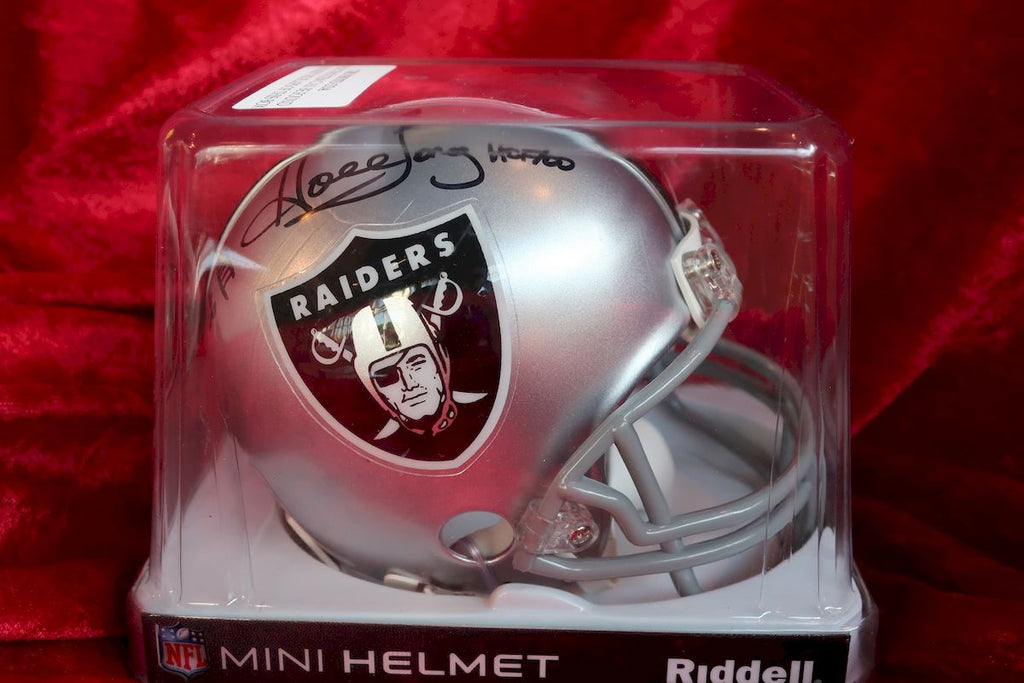 Howie Long Raiders Autographed Certified Authentic Football Mini Helmet
