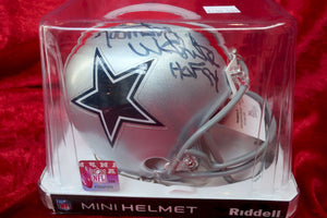 Randy White Cowboys Autographed Certified Authentic Football Mini Helmet