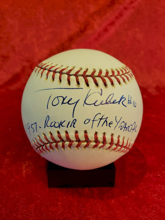 Tony Kubek Certified Authentic Autographed Baseball