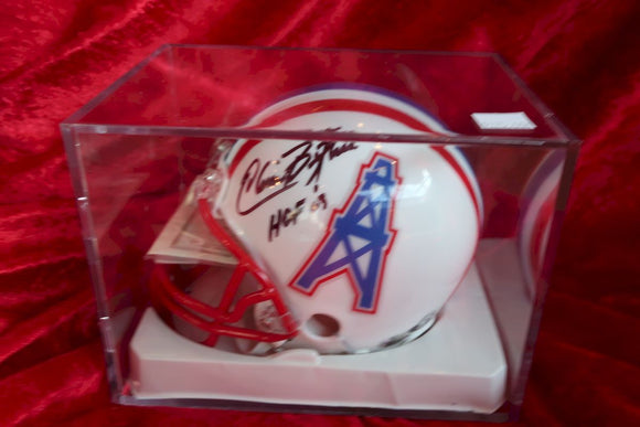 Elvin Bethea Oilers Autographed Certified Authentic Football Mini Helmet