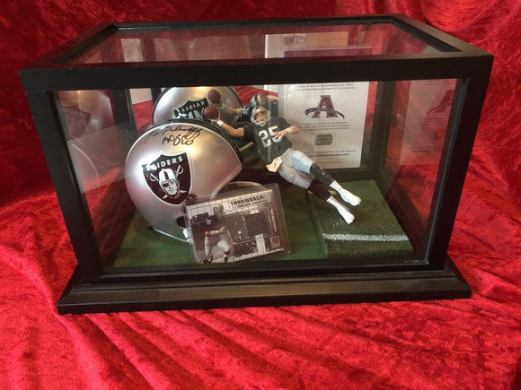 Fred Biletnikoff Raiders Certified Authentic Autographed Mini-helmet Shadowbox