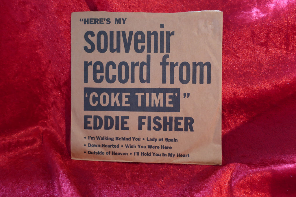 Eddie Fisher Here's My Souvenir Record From Coke Time 45 Single