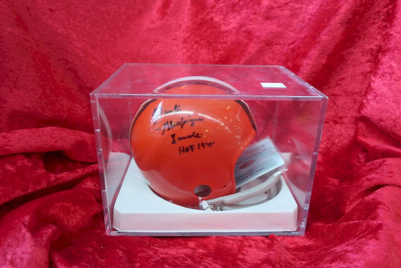 Dante Lavelli Browns Certified Authentic Autographed Football Mini Helmet