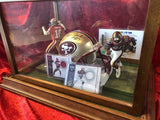 Joe Montana 49ers Certified Authentic Autographed Mini-helmet Shadowbox