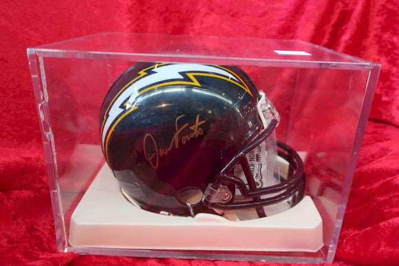 Dan Fouts Chargers Autographed Certified Authentic Football Mini Helmet
