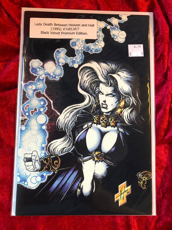 Lady Death Between Heaven and Hell #1 Black Velvet- 1995- Chaos- NM Comic Book