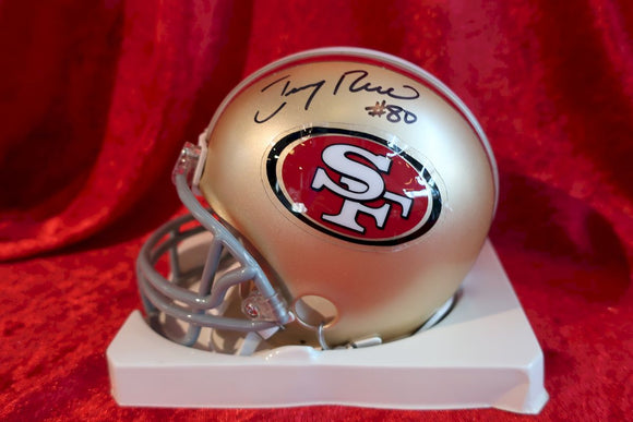 Jerry Rice 49ers Certified Authentic Autographed Football Mini Helmet