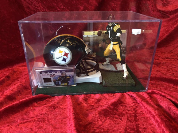 Ben Roethlisberger Steelers Certified Authentic Autographed Mini-helmet Shadowbo