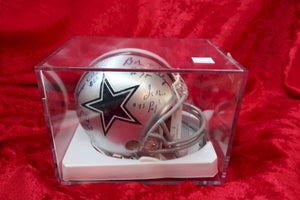 Bob Lilly Cowboys Autographed x4 Certified Authentic Football Mini Helmet