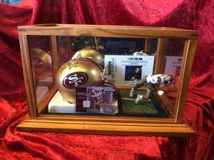 Jerry Rice 49ers Certified Authentic Autographed Mini-helmet Shadowbox