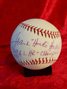 Frank Hando Howard Certified Authentic Autographed Baseball
