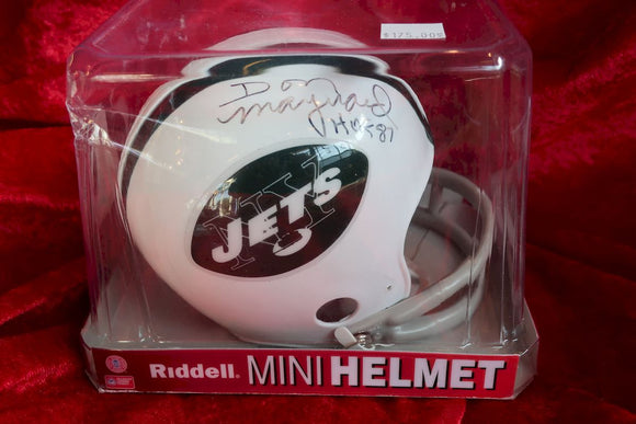 Don Maynard Jets Autographed  Football Mini Helmet