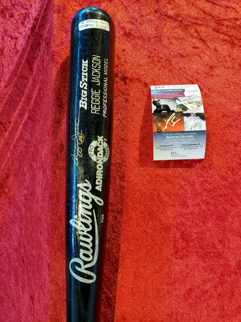 Reggie Jackson Certifed Authentic Autographed Bat