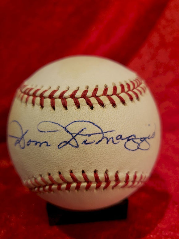 Dom Dimaggio Certified Authentic Autographed Baseball