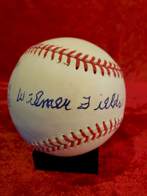 Wilmer Fields Certified Authentic Autographed Baseball