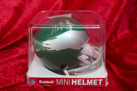 Chuck Bednarik Eagles Autographed Certified Authentic Football Mini Helmet