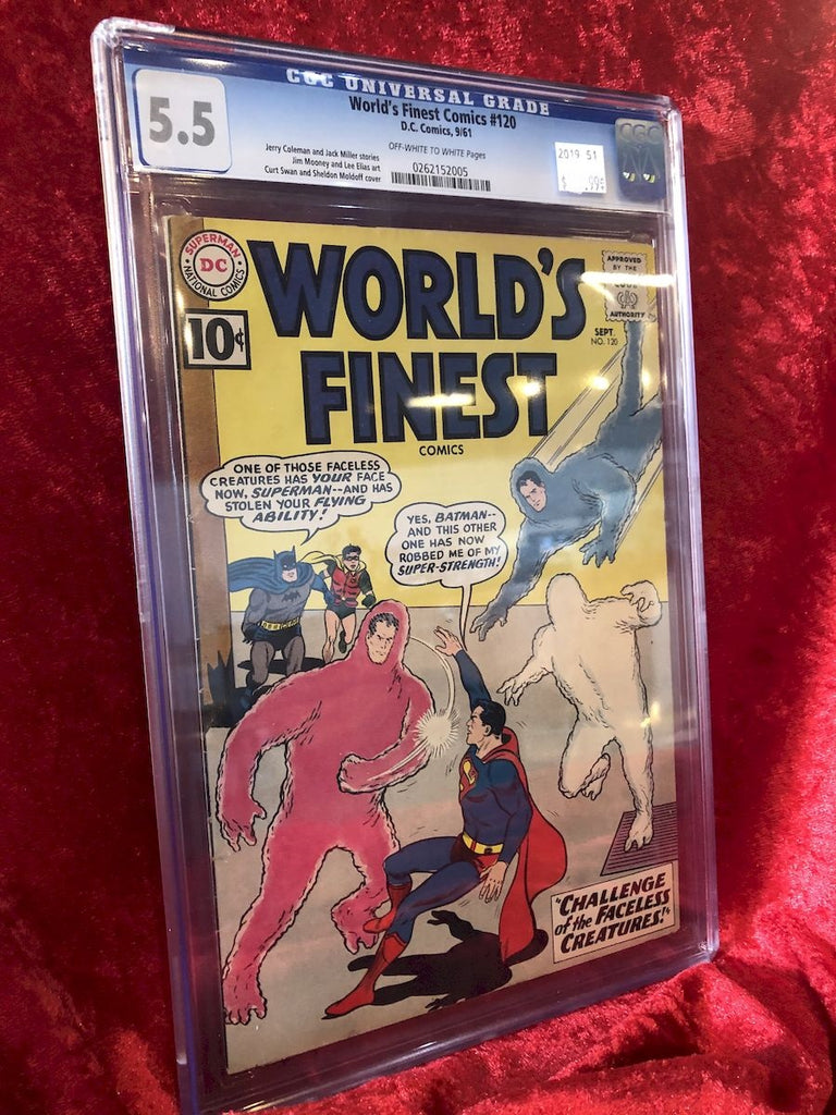 Batman- World's Finest Comics #120- CGC 5.5 Golden Age Comic Book