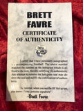 Brett Favre Green Bay Packers Certified Authentic Autographed Football